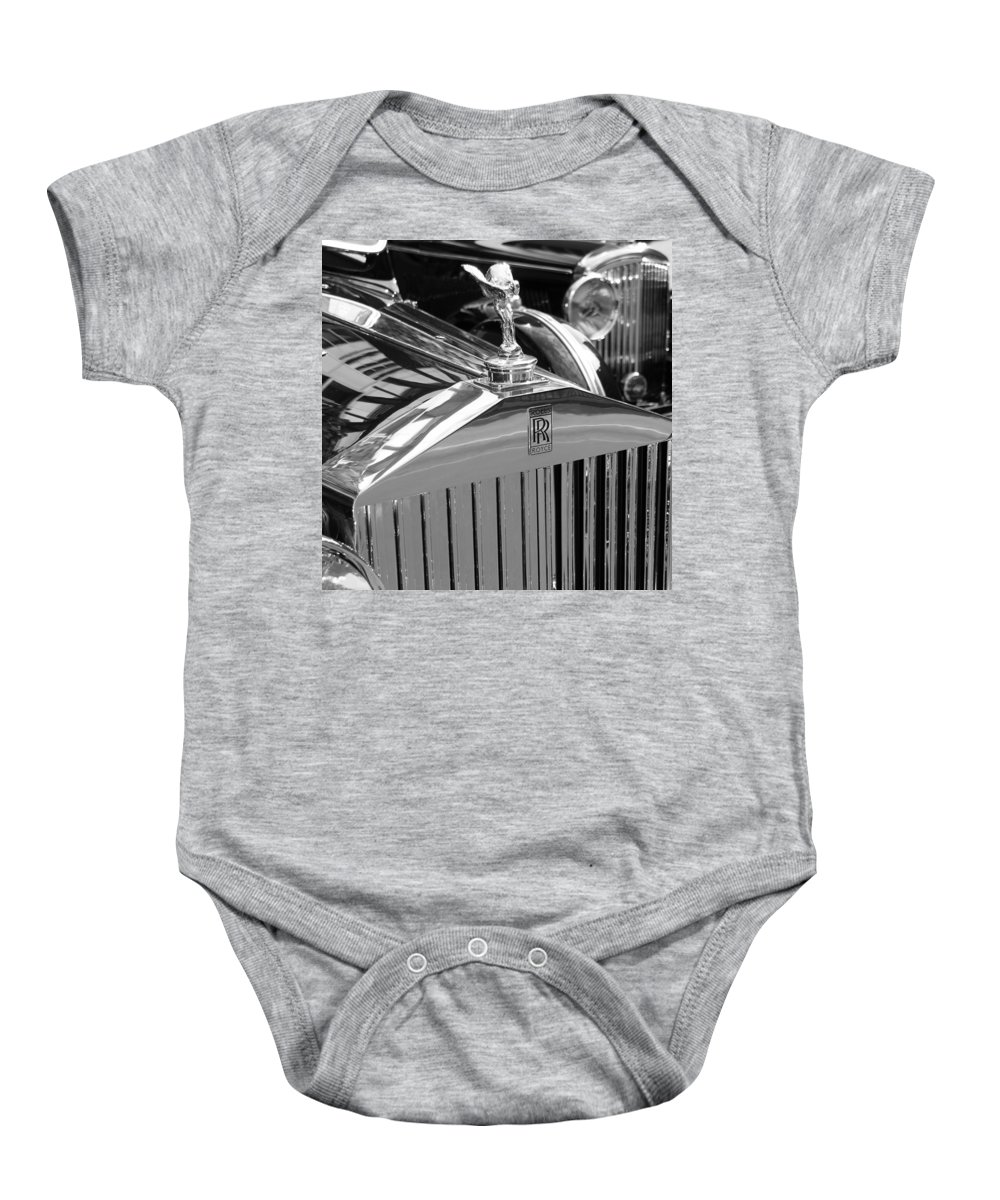 Rolls Baby Onesie featuring the photograph Vintage Rolls Royce 2 by Andrew Fare