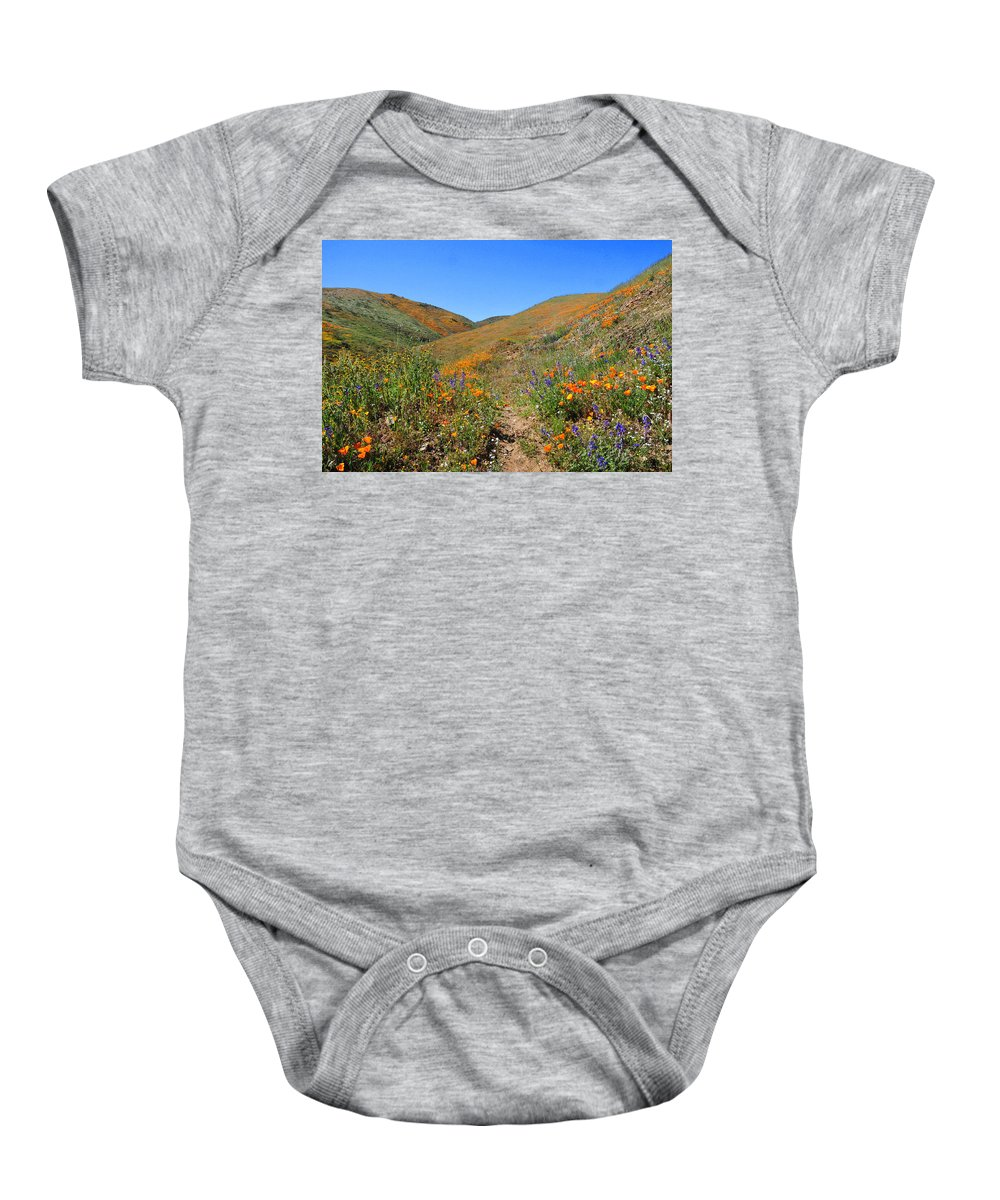 Wildflowers Baby Onesie featuring the photograph Walking Thru The Wildflowers by Lynn Bauer