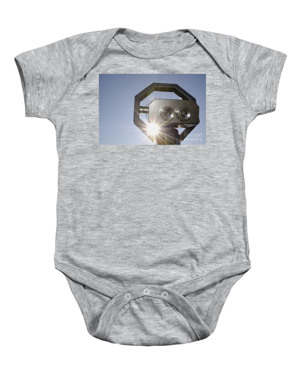 Telescope Baby Onesie featuring the photograph Watching The Sun With A Telescope by Mats Silvan