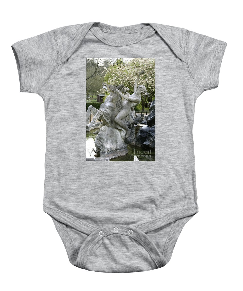 Water Baby Onesie featuring the digital art Water Nymph And Hippocampus by Heather Lennox