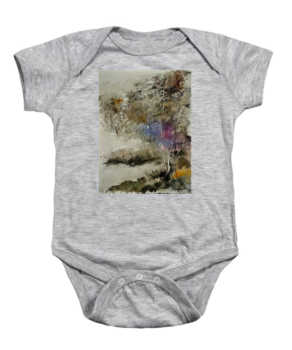Landscape Baby Onesie featuring the painting Watercolor 110122 by Pol Ledent