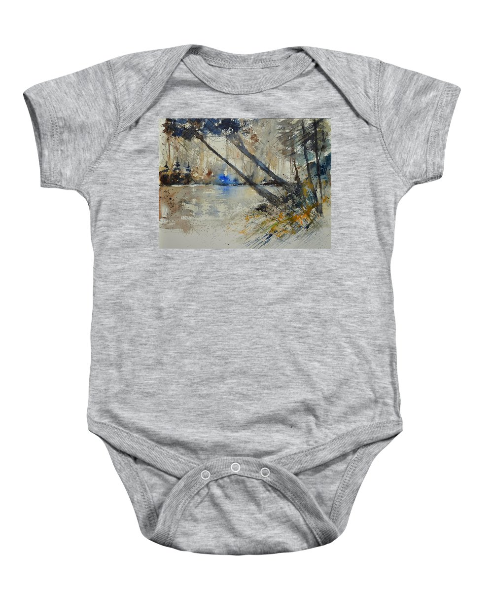 Landscape Baby Onesie featuring the painting Watercolor 119080 by Pol Ledent