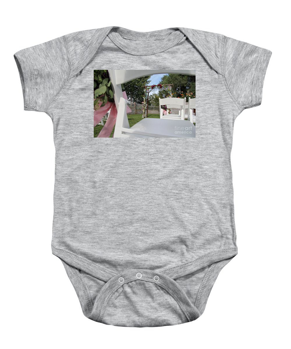 Wedding Baby Onesie featuring the photograph Wedding by Diane Greco-Lesser