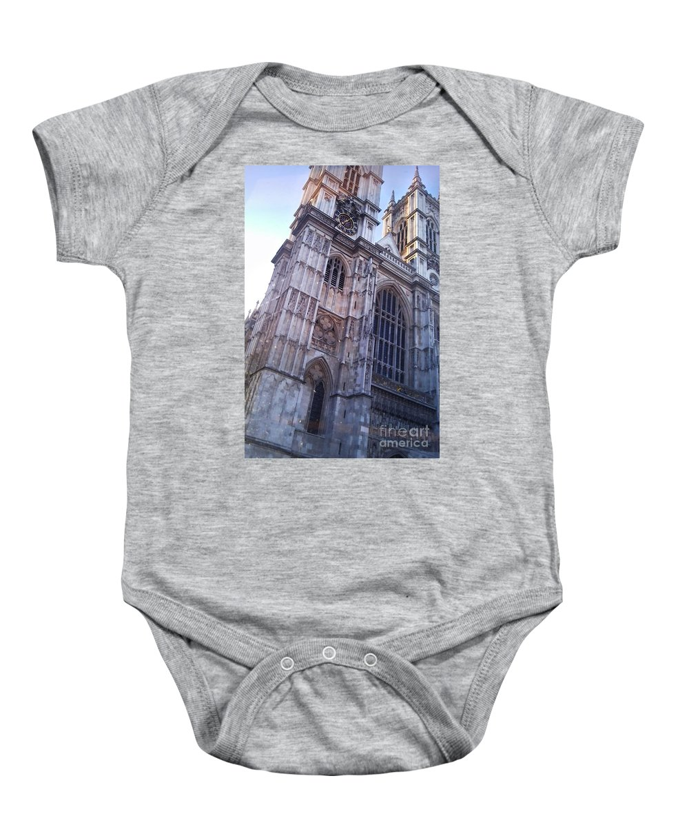 Westminster Abbey Baby Onesie featuring the photograph Westminster Abbey London by Heather Lennox