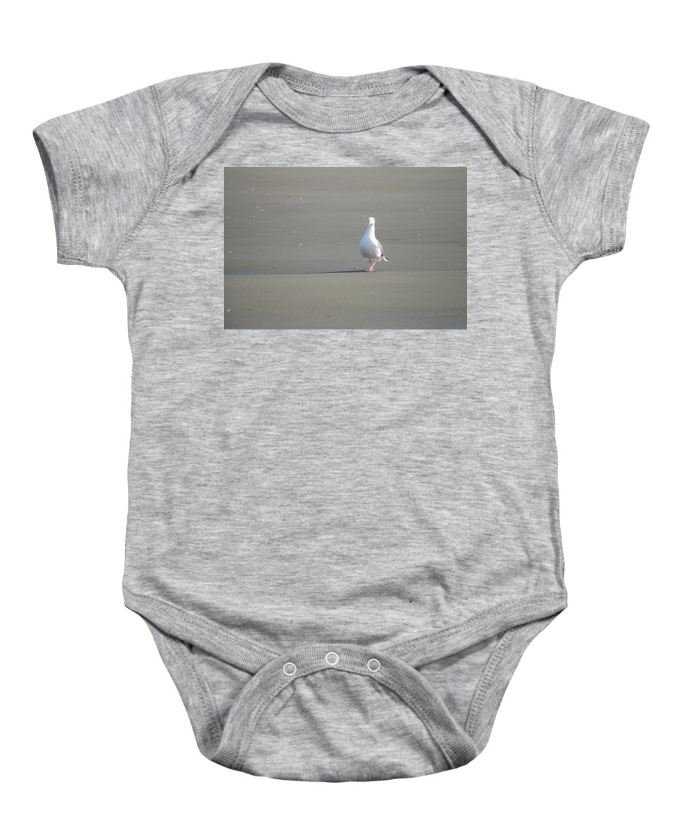 Gull Baby Onesie featuring the photograph What Are You Looking At by Michael Merry
