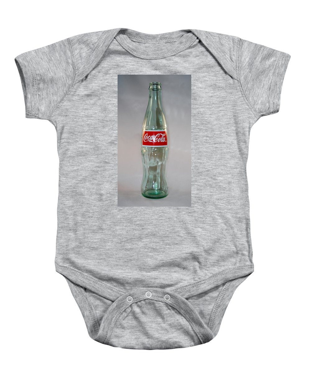 Cocacola Baby Onesie featuring the photograph White Coke by Skip Willits
