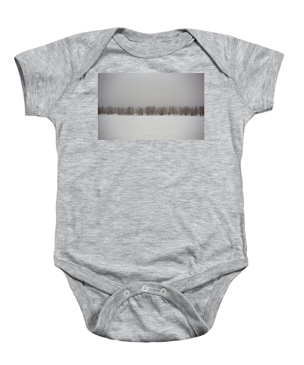 Landscape Baby Onesie featuring the photograph White Solitude by Olivier De Rycke