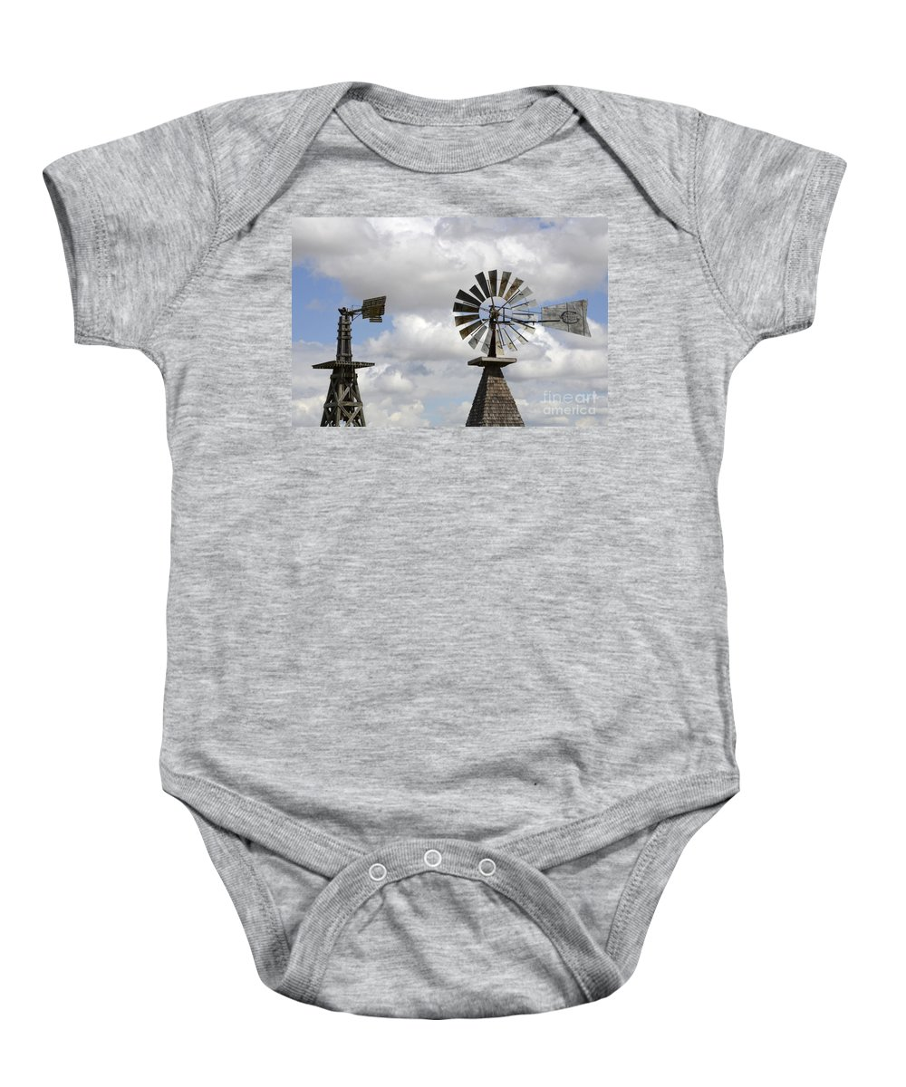 Windmill Baby Onesie featuring the photograph Windmills 5 by Bob Christopher
