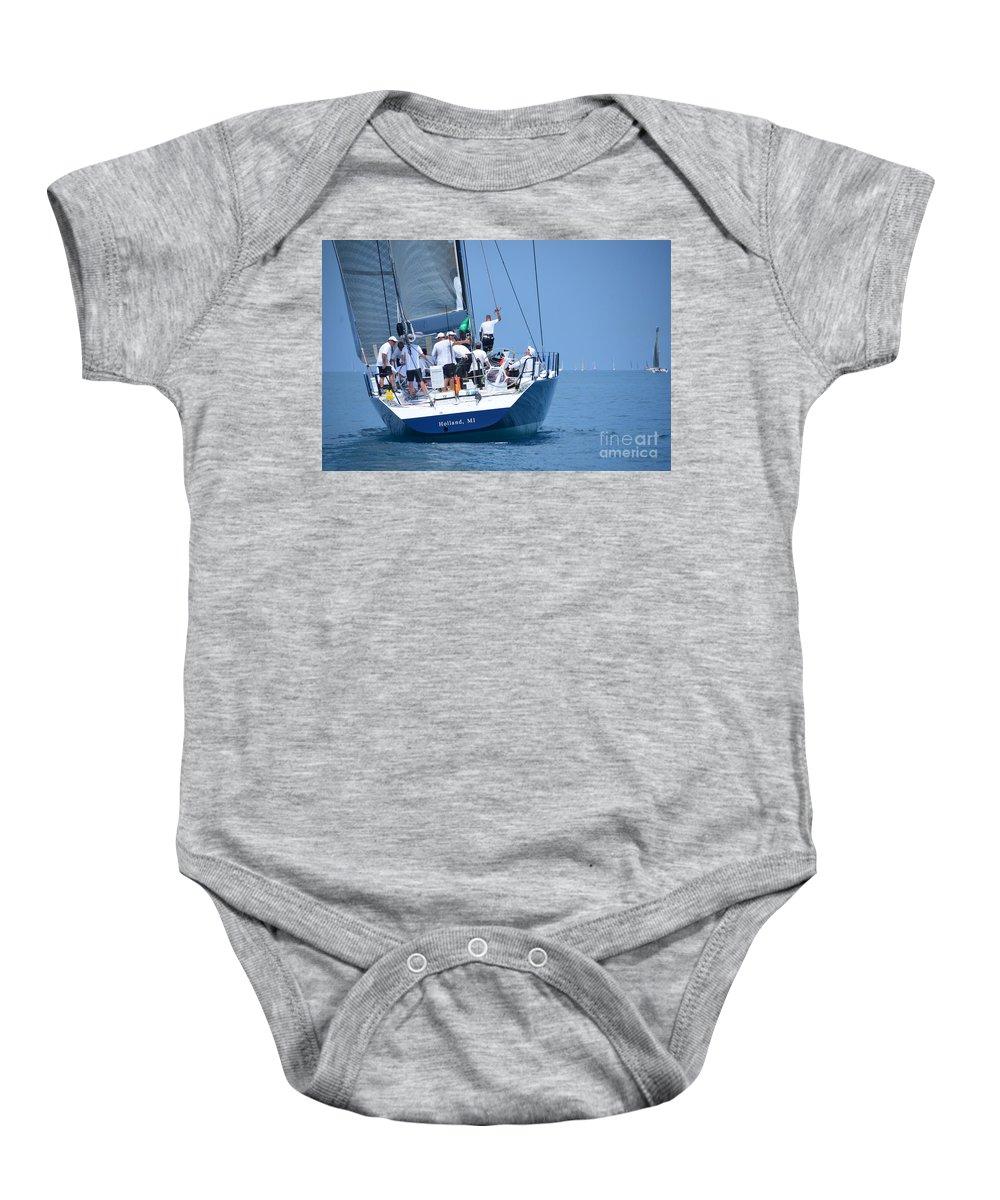 Sail Baby Onesie featuring the photograph Windquest  Intesity by Randy J Heath