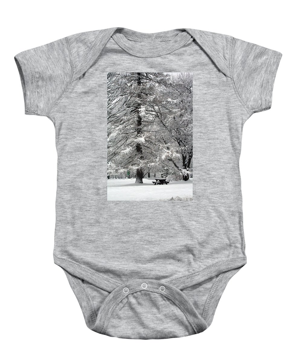Washington Park Baby Onesie featuring the photograph Winter 0001 by Carol Ann Thomas