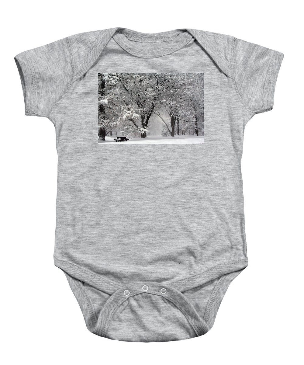 Winter Baby Onesie featuring the photograph Winter 0002 by Carol Ann Thomas