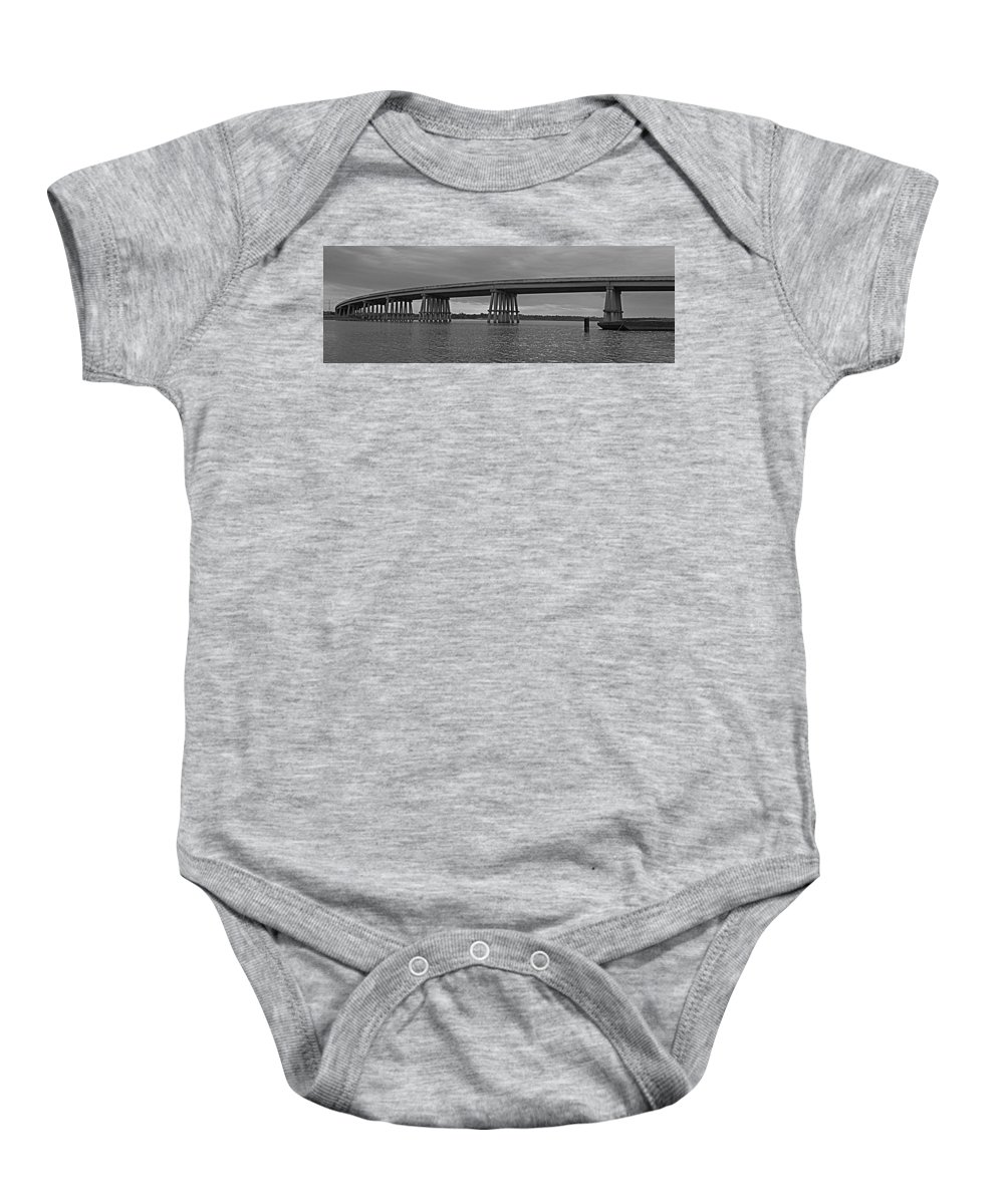 Bridge Baby Onesie featuring the photograph Wolf River Bridge by Beth Gates-Sully