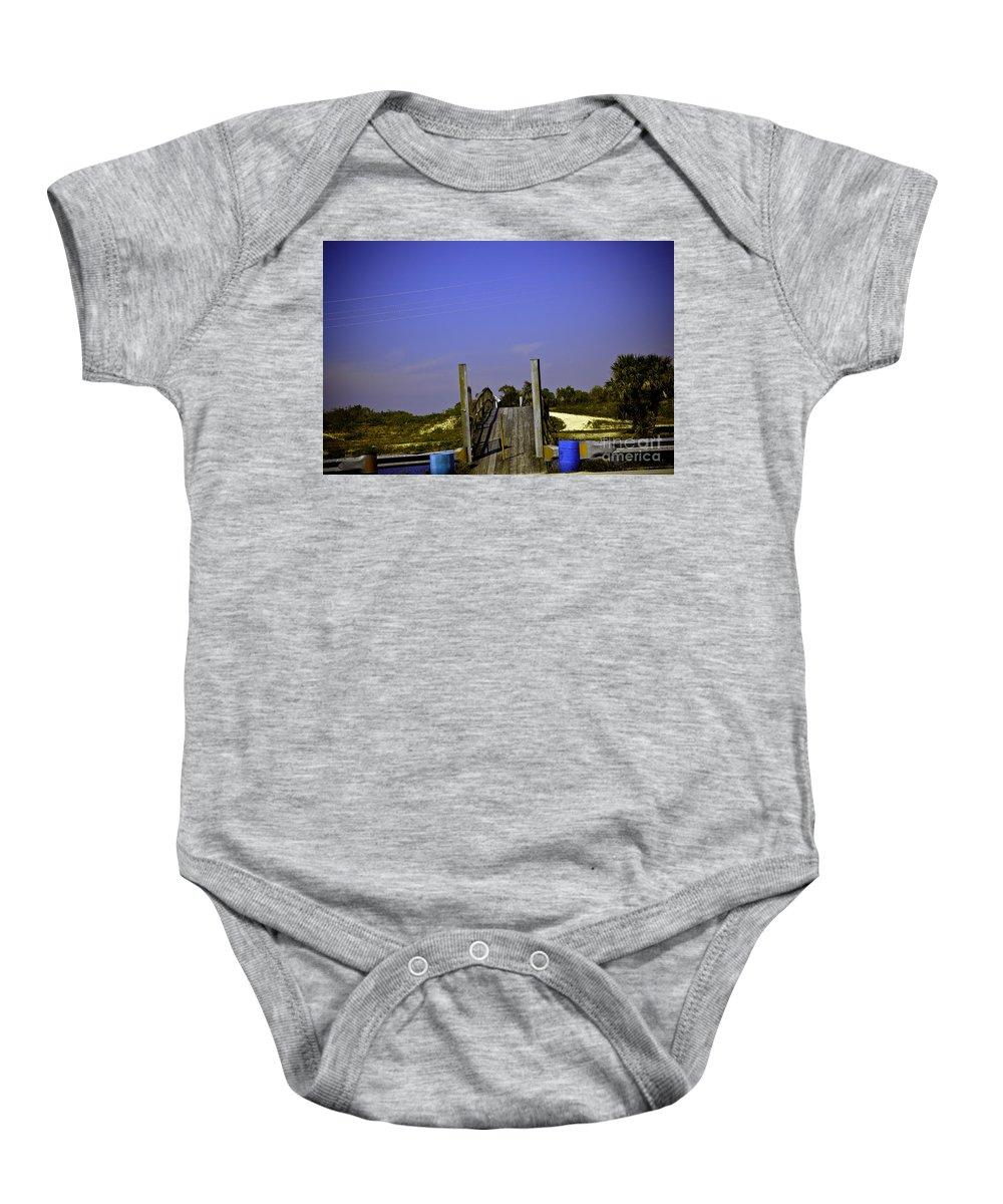 Bridge Baby Onesie featuring the photograph Wooden Bridge by Madeline Ellis