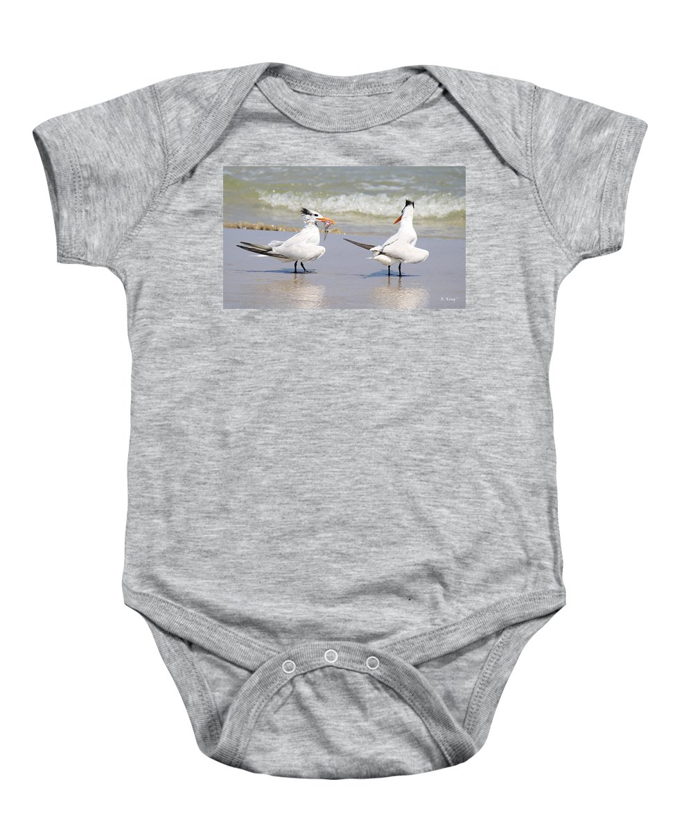 Roena King Baby Onesie featuring the photograph Ya Dont Dive Ya Dont Eat by Roena King