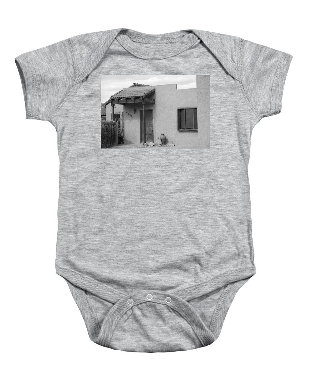 Architecture Baby Onesie featuring the photograph Adobe House by Rob Hans