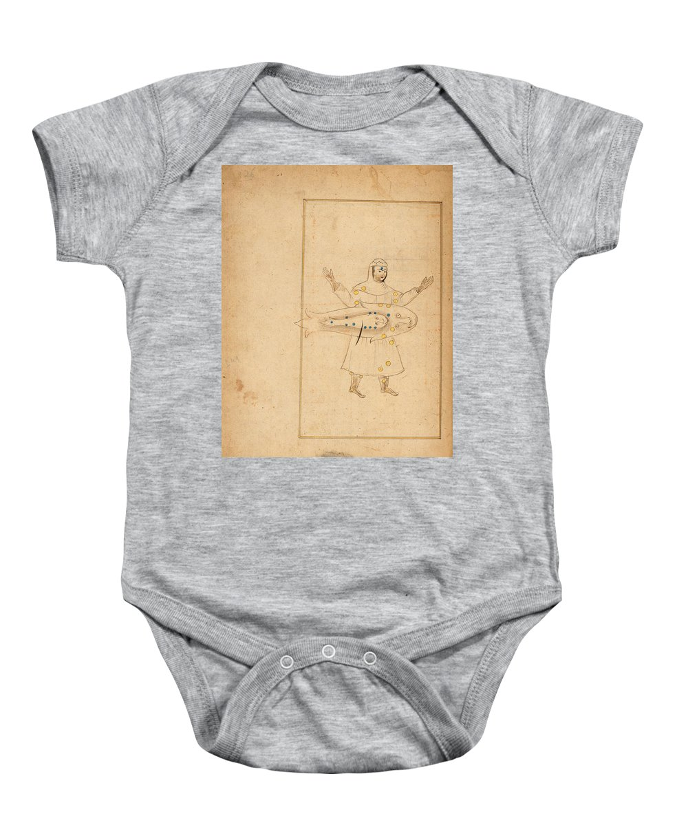 Abd Al-rahman Al-sufi Baby Onesie featuring the painting Book Of The Images Of The Fixed Stars by Abd al Rahman