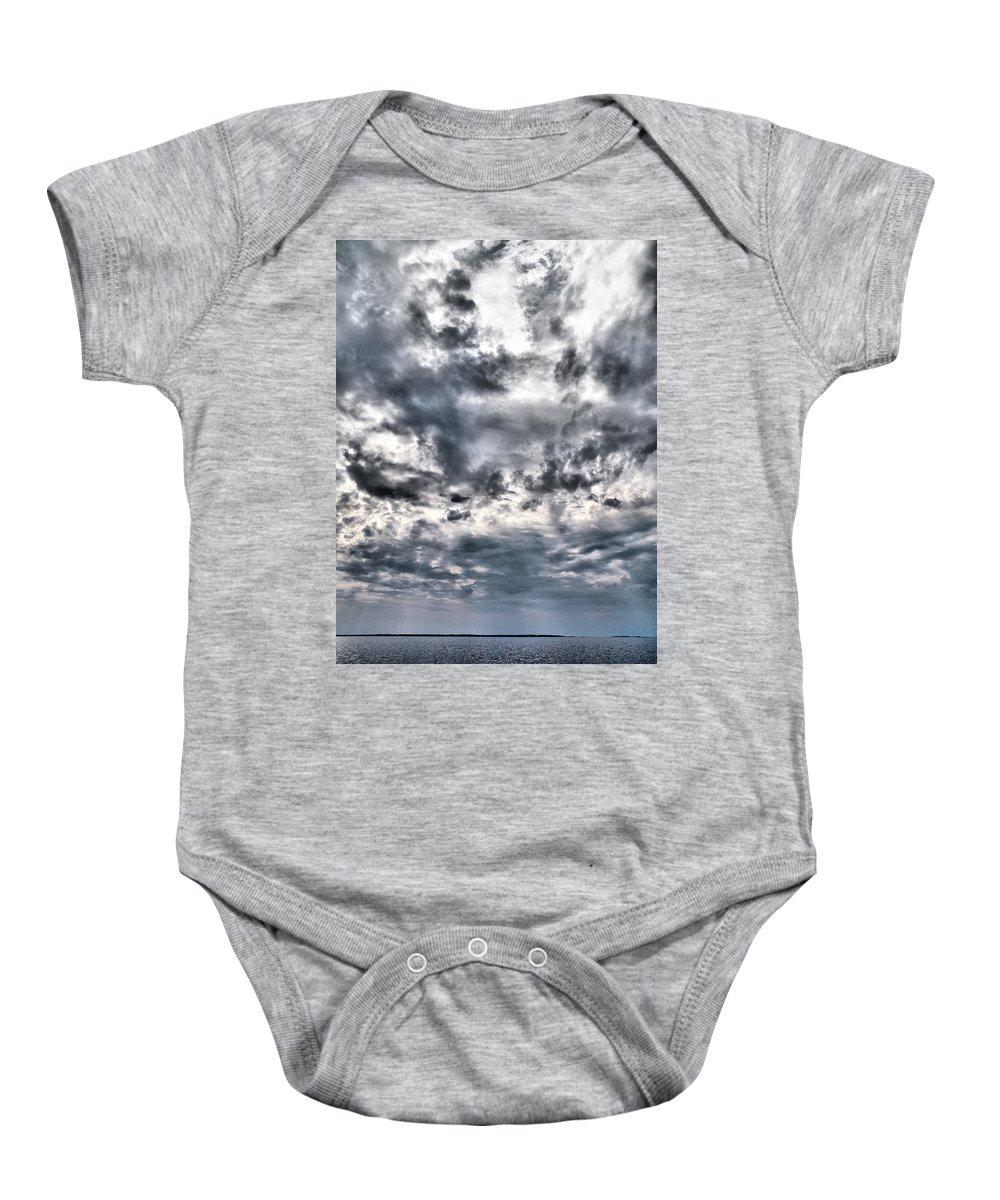 Lehtokukka Baby Onesie featuring the photograph Mental Seaview by Jouko Lehto