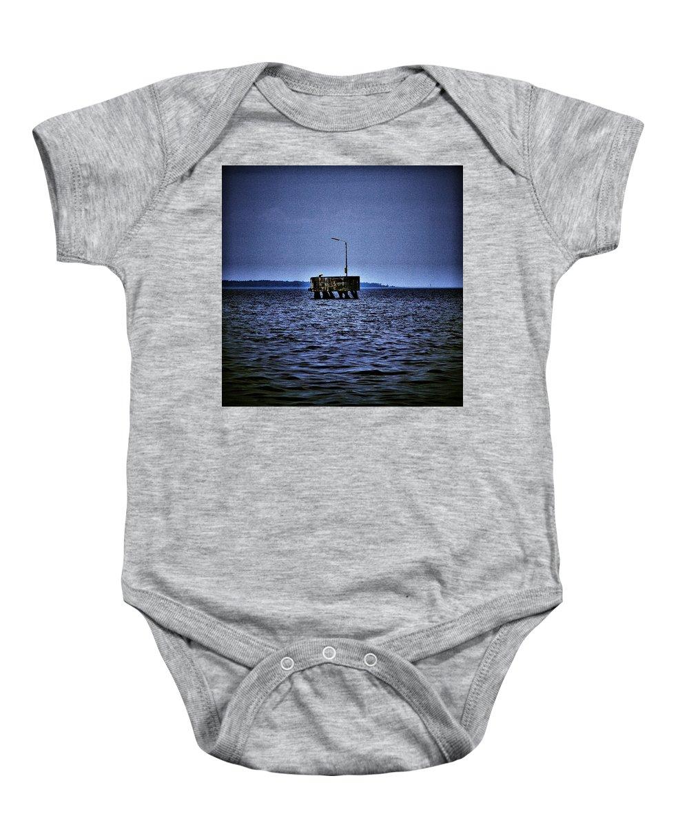 Lehtokukka Baby Onesie featuring the photograph The Dock Of Loneliness by Jouko Lehto