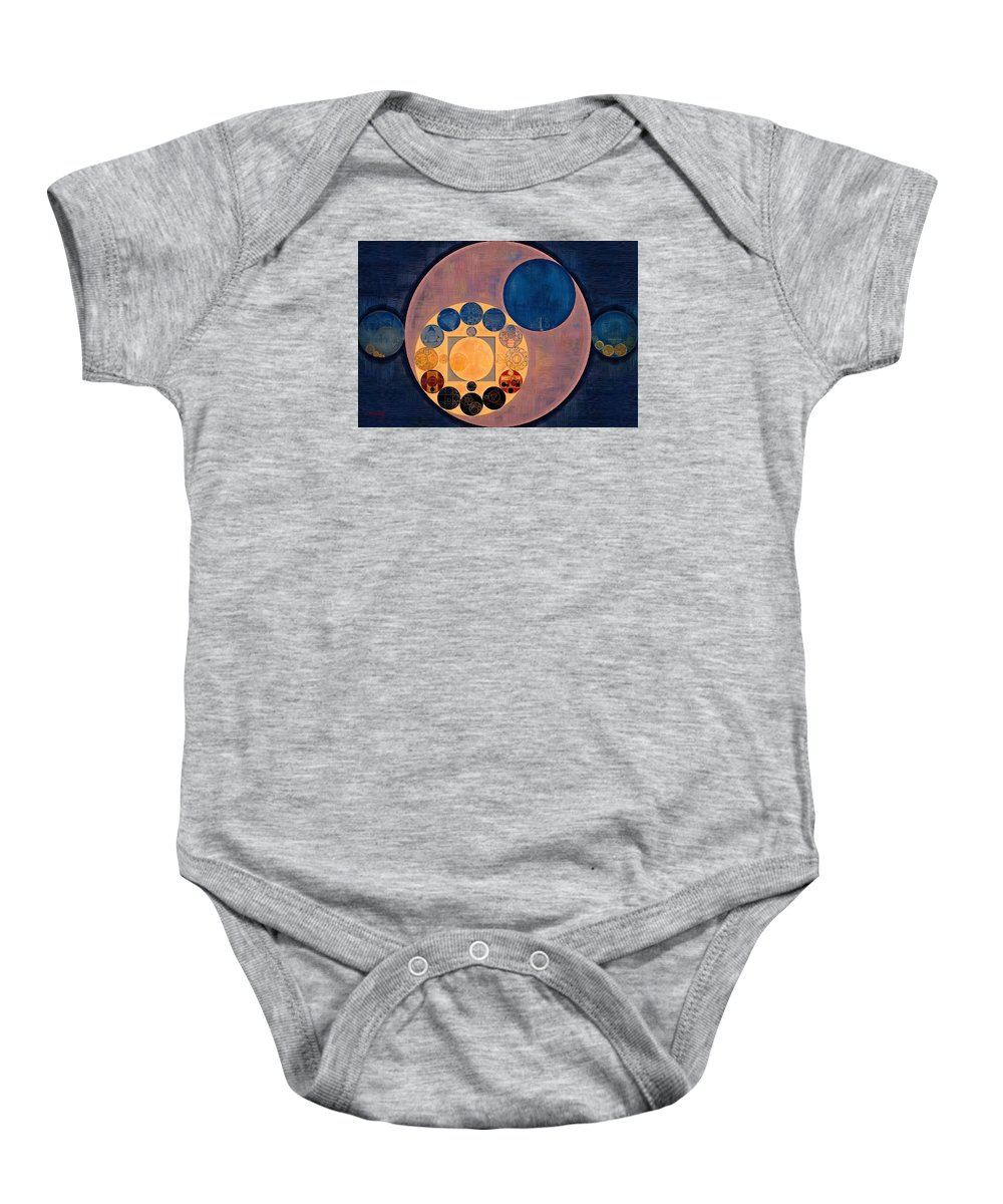 Element Baby Onesie featuring the digital art Abstract Painting - French Beige by Vitaliy Gladkiy