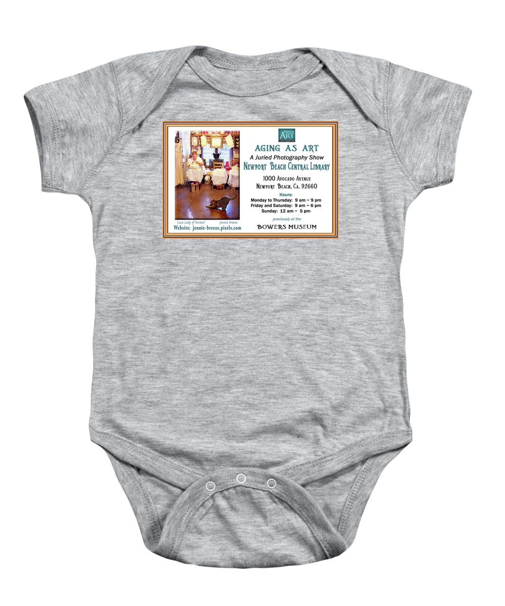 Aging As Art Baby Onesie featuring the photograph Aging As Art Exhibit by Jennie Breeze