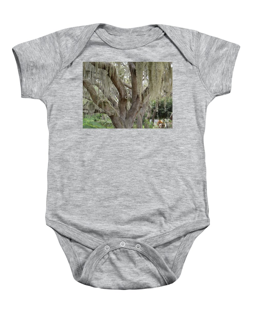Live Oak Baby Onesie featuring the photograph Angel Oak With Spanish Moss 2 by To-Tam Gerwe