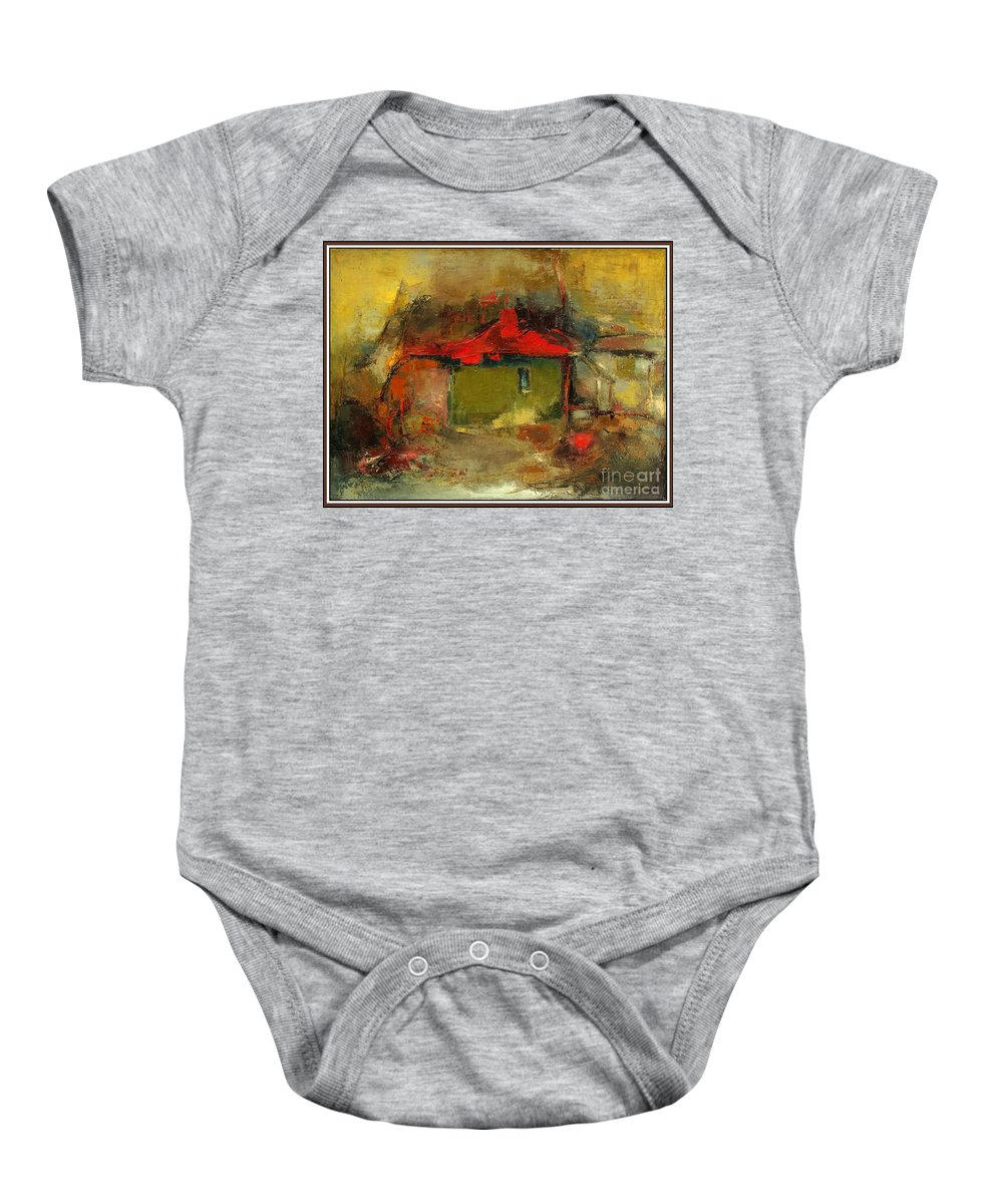Landscape Baby Onesie featuring the painting Autumn Rhapsody by Pemaro