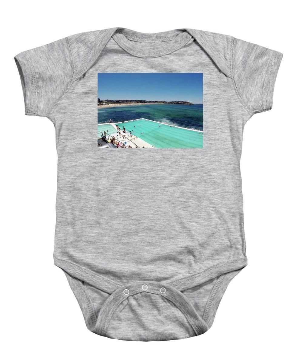 Baby Onesie featuring the photograph Bondi Beach by Chris Lane