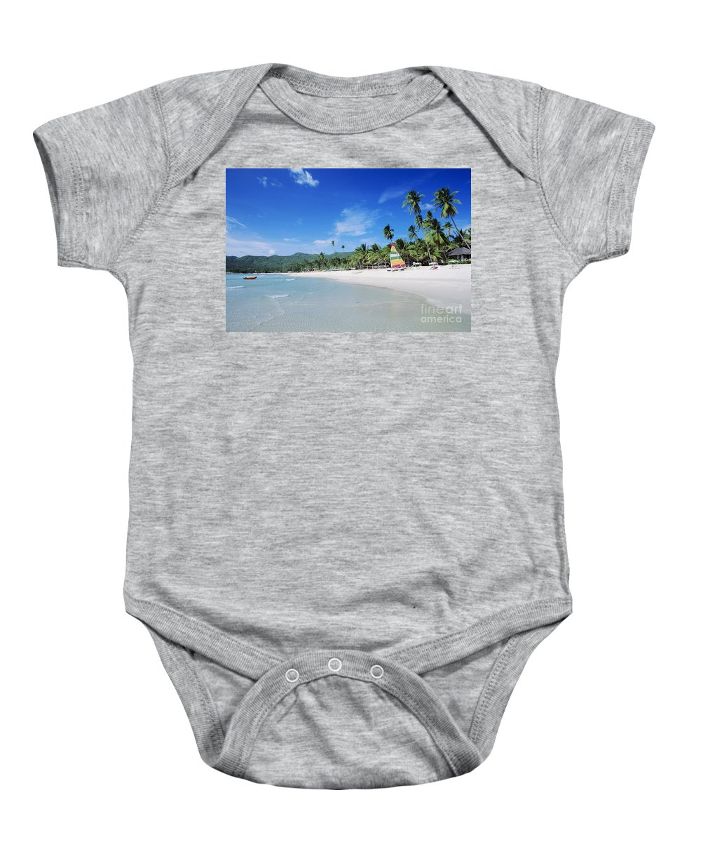 Beach Baby Onesie featuring the photograph Chaweng Beach by William Waterfall - Printscapes