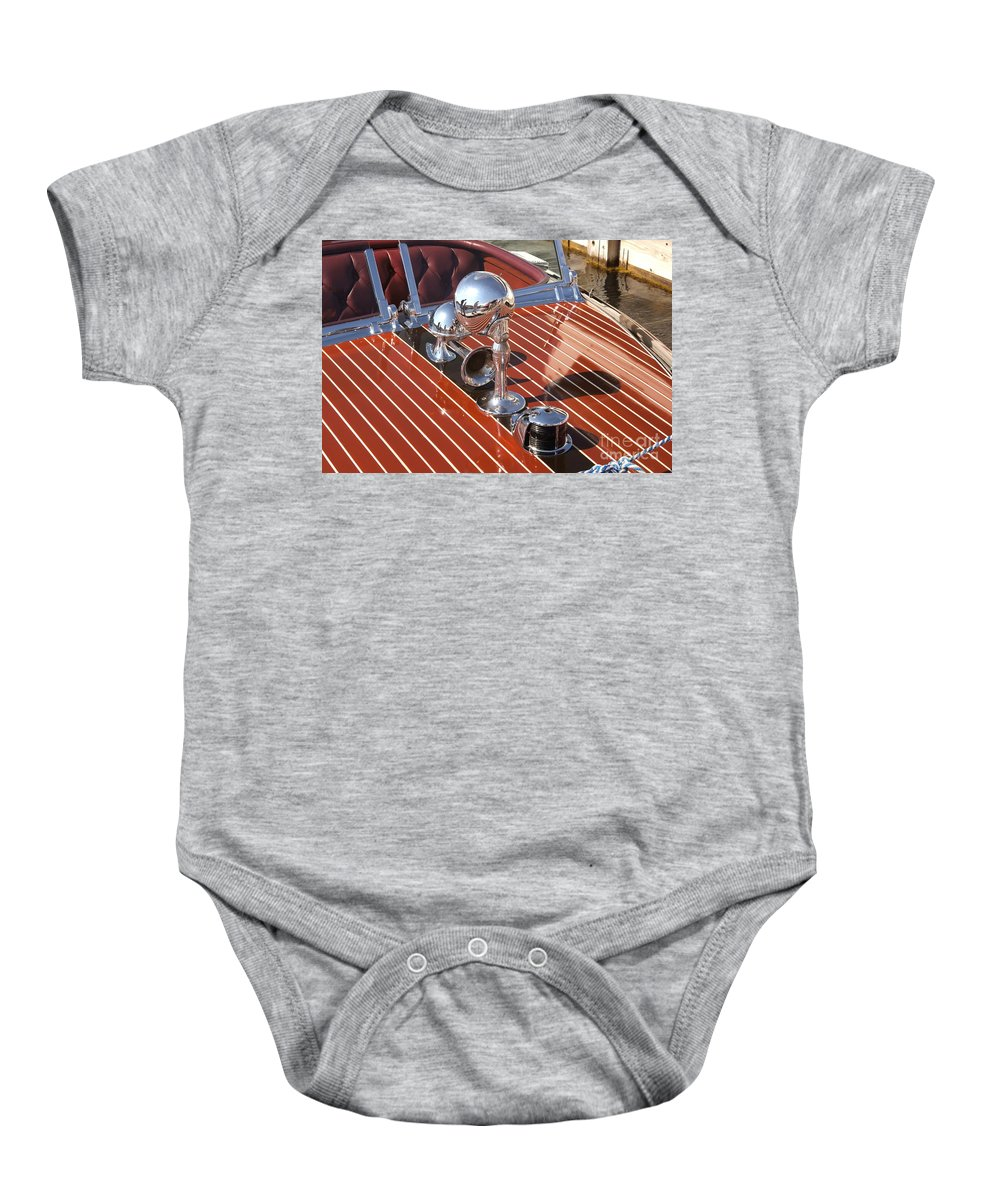 Chris Craft Baby Onesie featuring the photograph Chris Craft Custom by Neil Zimmerman