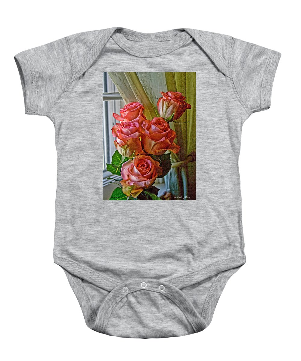 Roses Baby Onesie featuring the photograph Cindy's Roses by Bonnie Willis