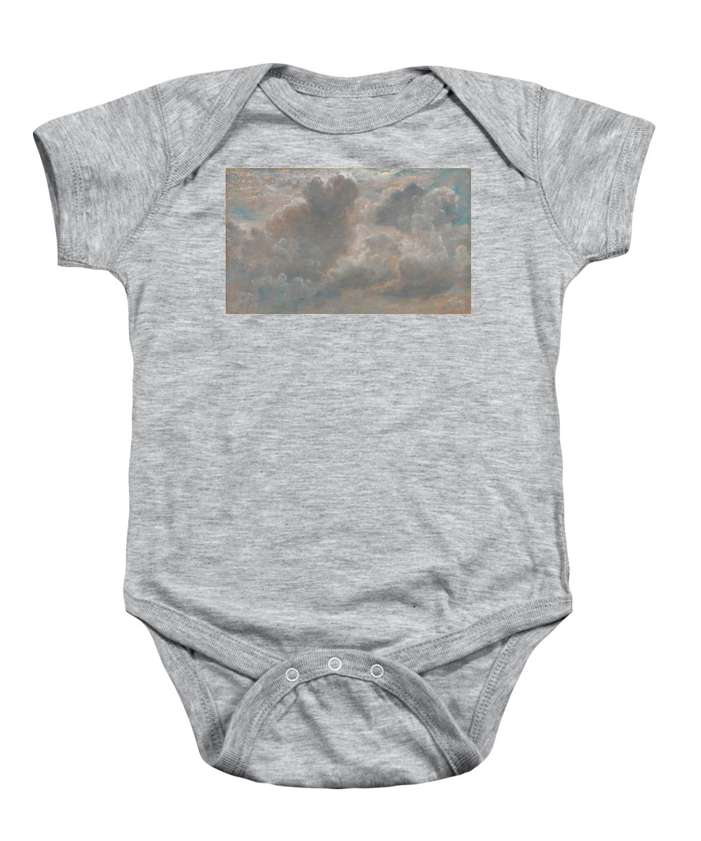English Romantic Painters Baby Onesie featuring the painting Cloud Study by John Constable