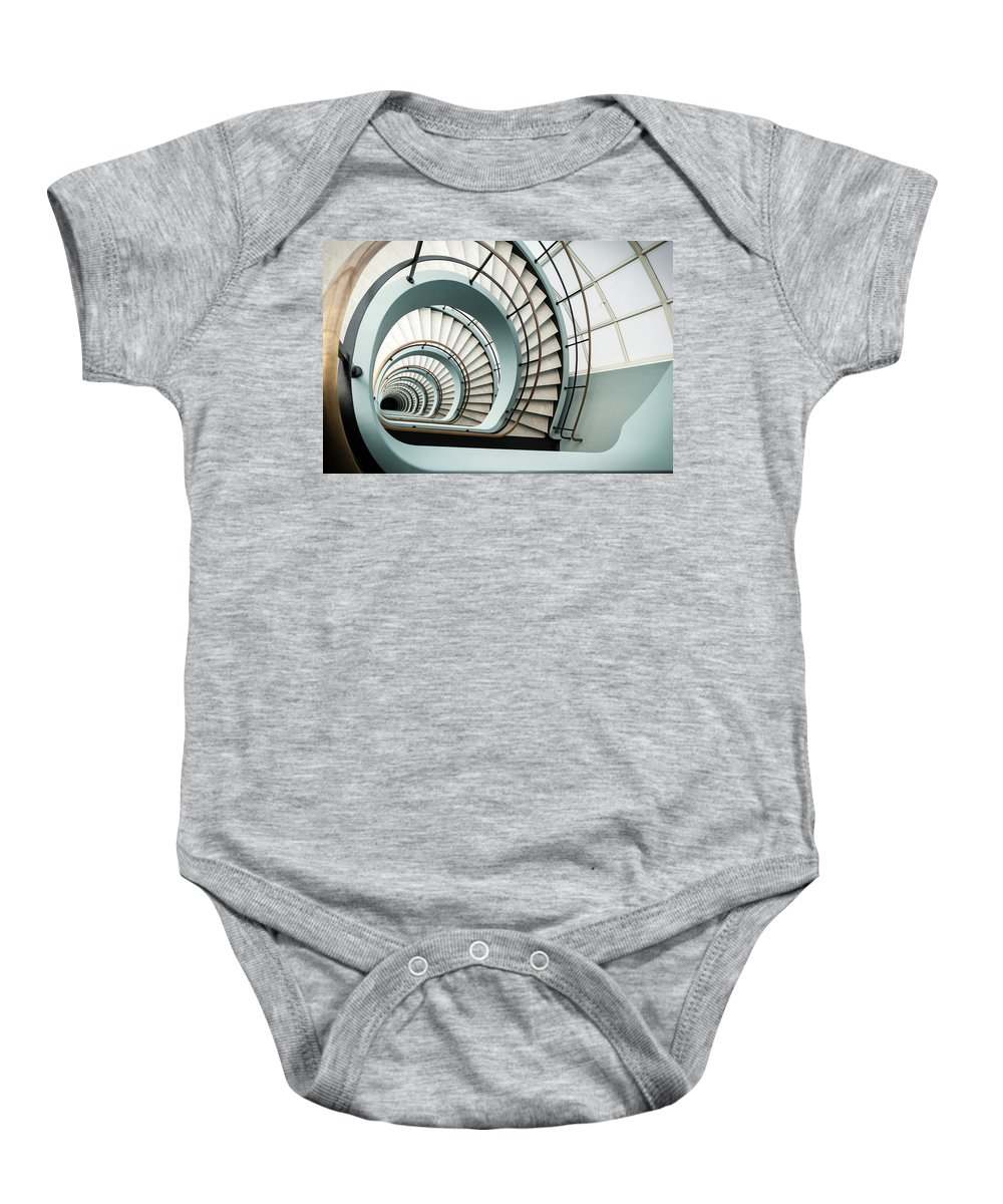 Den Bell Baby Onesie featuring the photograph Den Bell by Michael Jacobs