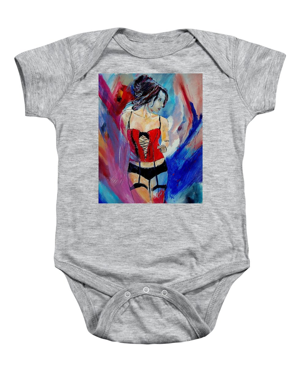 Nude Baby Onesie featuring the painting Deshabille 450110 by Pol Ledent