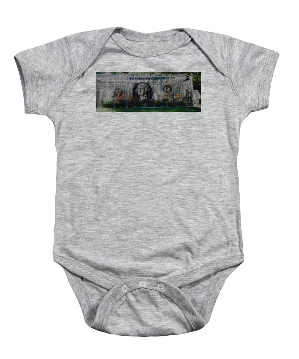 Park Baby Onesie featuring the photograph Dollar Bill by Rob Hans