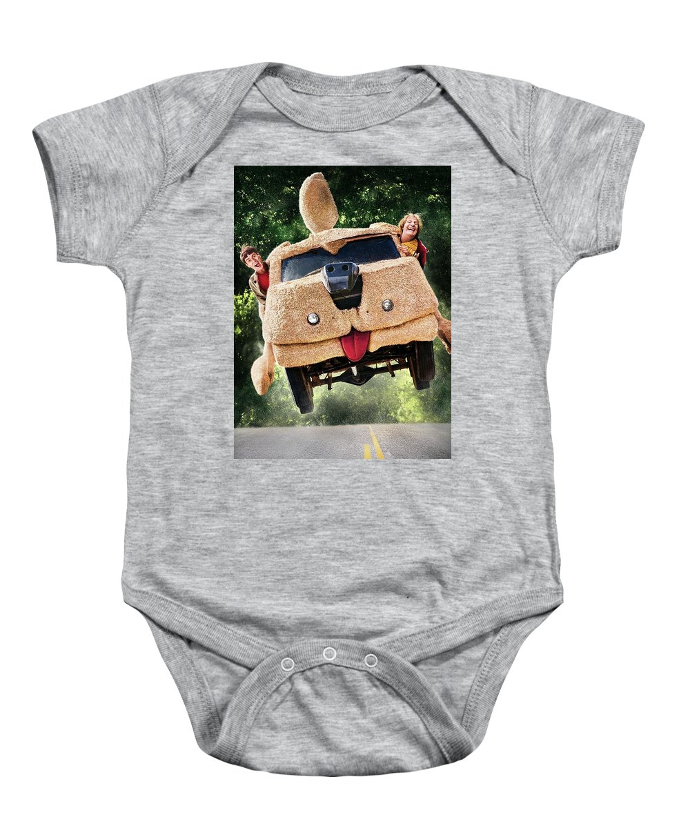 Dumb And Dumber To 2014 Baby Onesie featuring the digital art Dumb And Dumber To 2014 by Geek N Rock