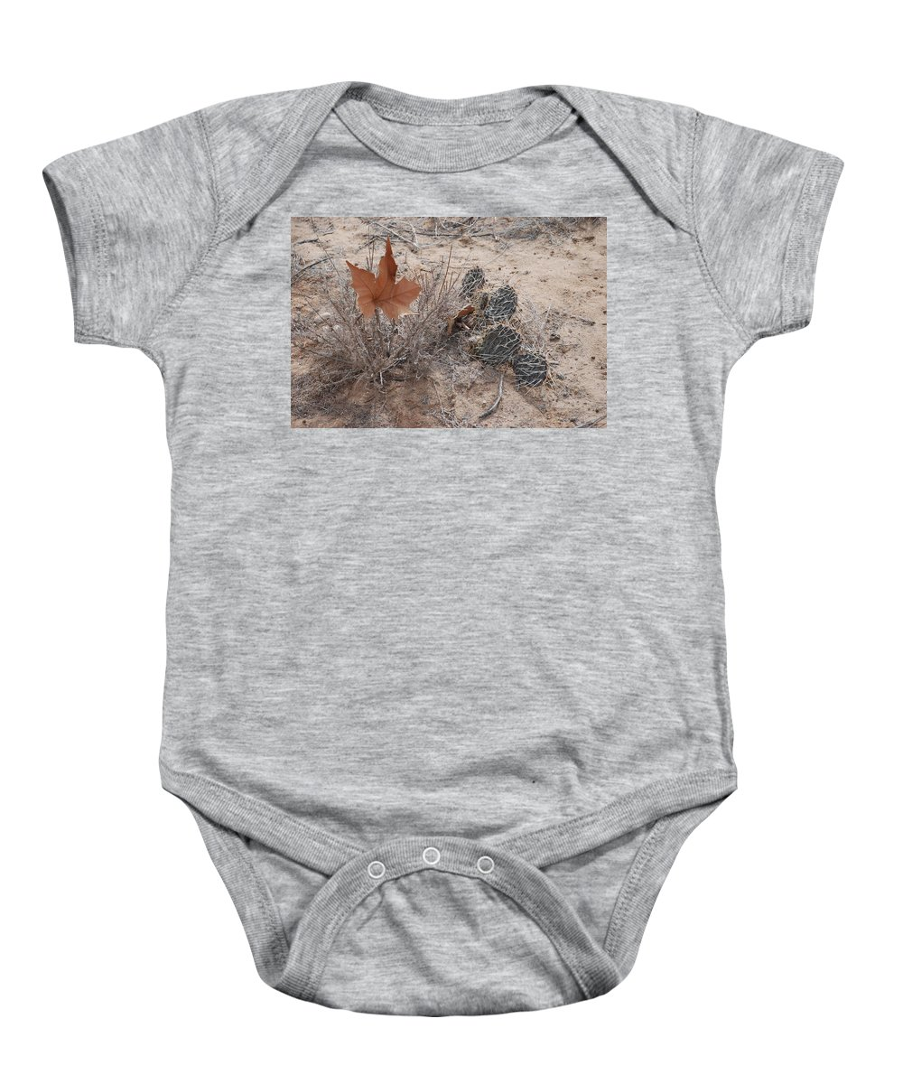 Desert Baby Onesie featuring the photograph East Meets West by Rob Hans