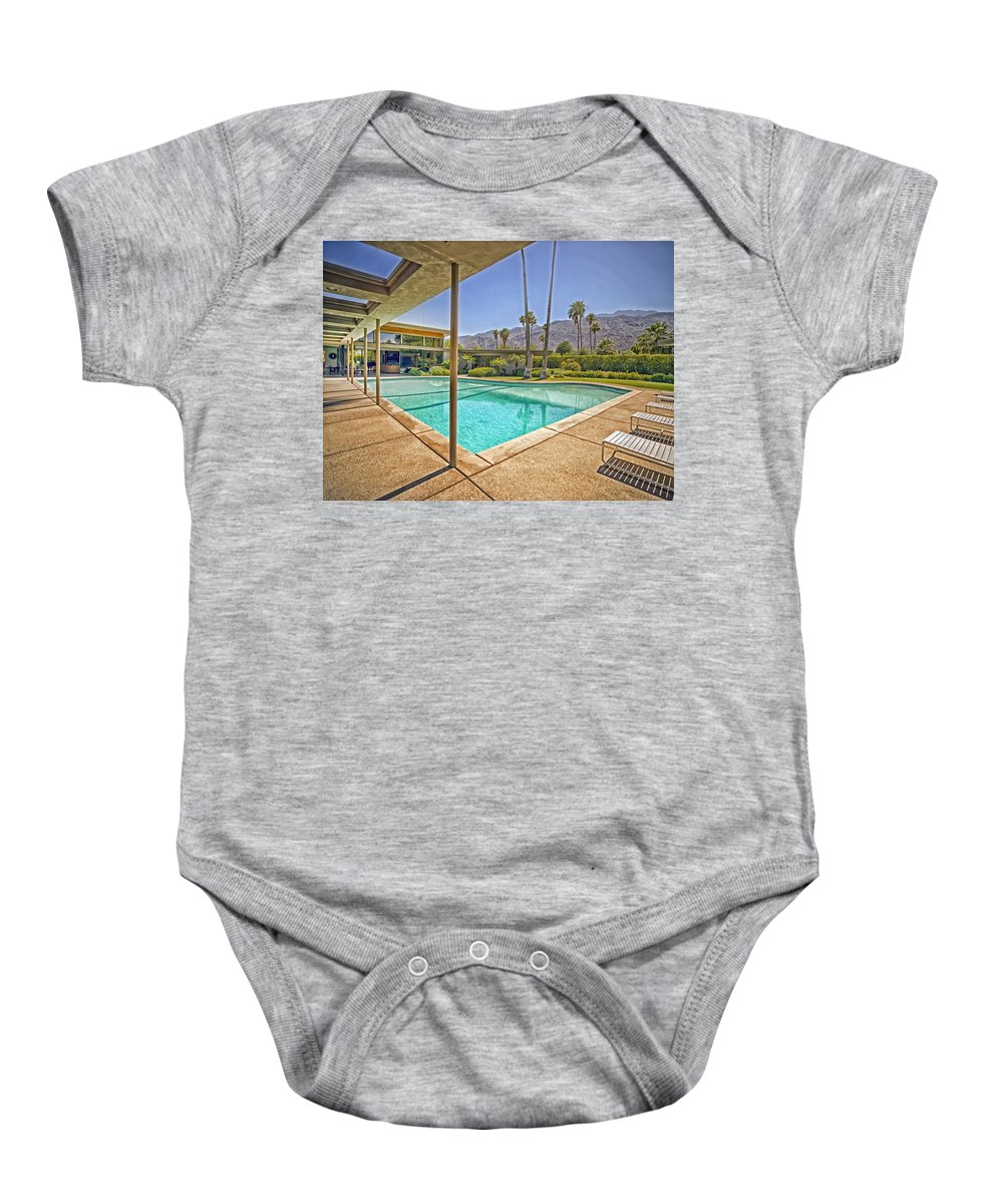 Frank Sinatra Baby Onesie featuring the photograph Frank Sinatra's Twin Palms Estate by Mountain Dreams