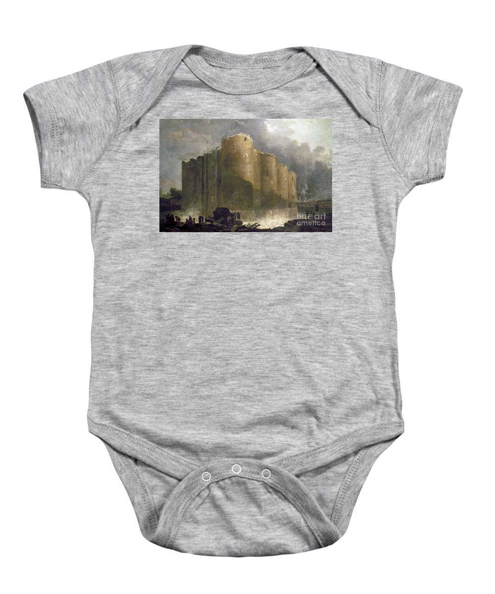 1789 Baby Onesie featuring the photograph French Revolution, 1789 by Granger