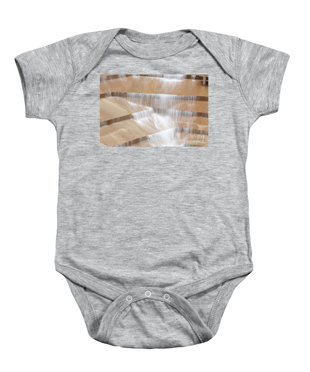 Travel Destinations Baby Onesie featuring the photograph Ft Worth Water Gardens by Anthony Totah