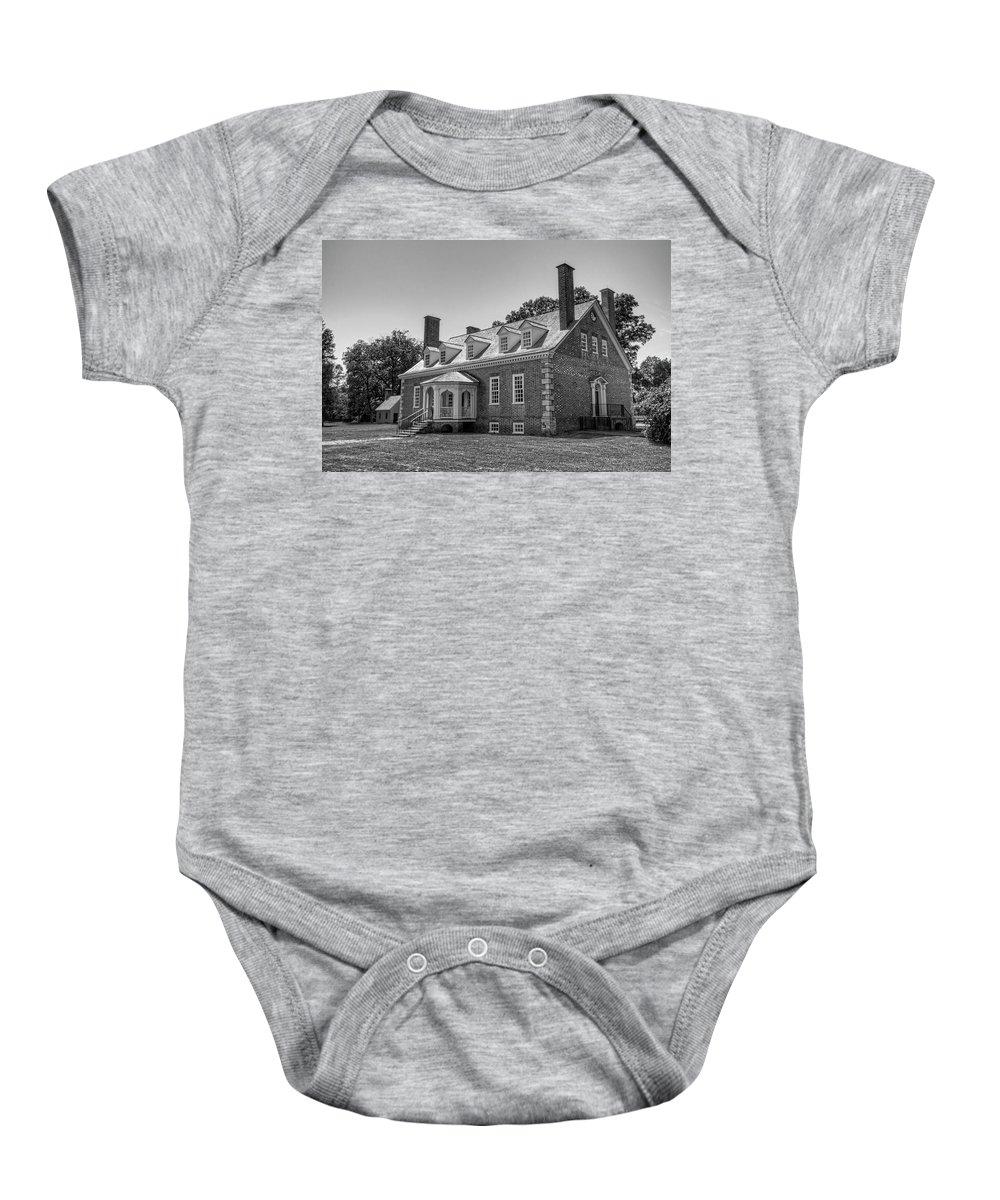 Gunston Hall Baby Onesie featuring the photograph George Mason's Gunston Hall by Craig Fildes