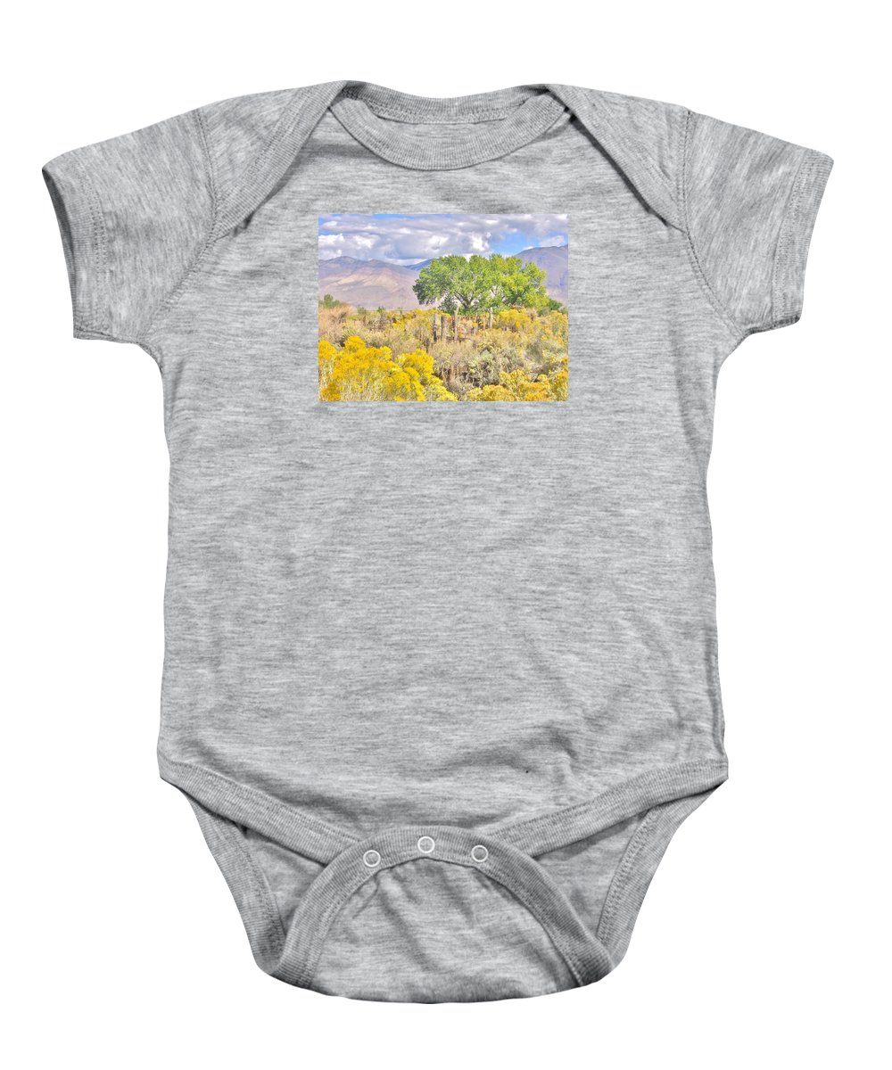 Sky Baby Onesie featuring the photograph Glorious by Marilyn Diaz