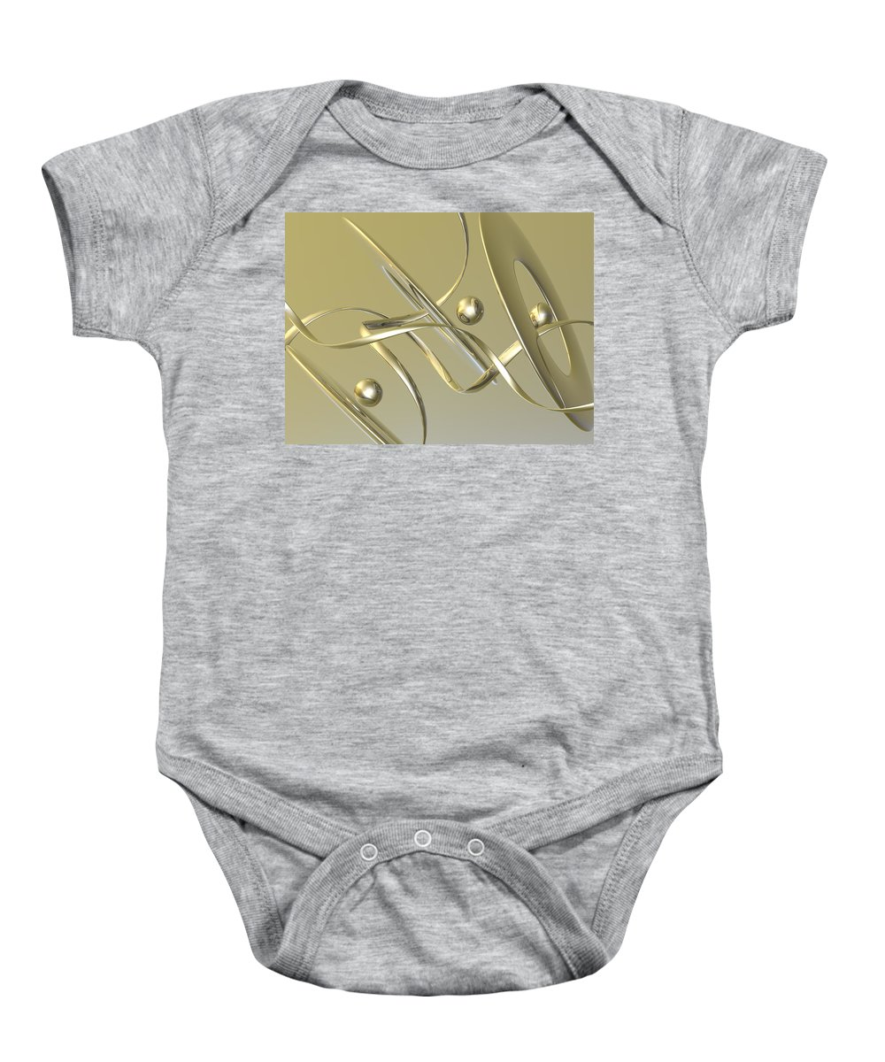 Scott Piers Baby Onesie featuring the painting Gold by Scott Piers