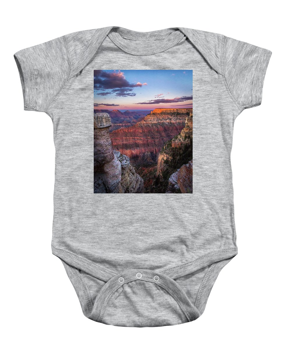 Arizona Baby Onesie featuring the photograph Grand Sunset by Shawn Einerson