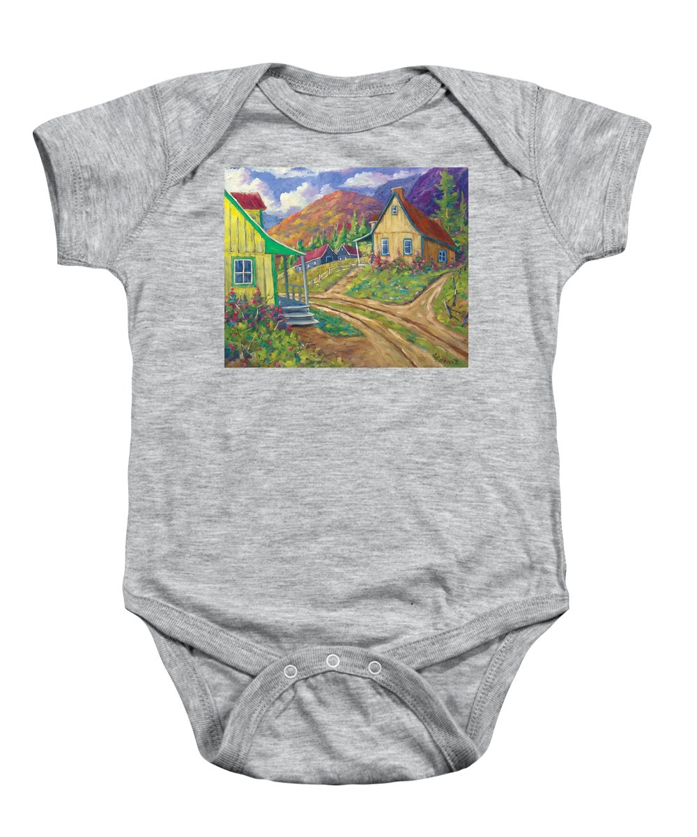 Art Baby Onesie featuring the painting House Of Louis by Richard T Pranke
