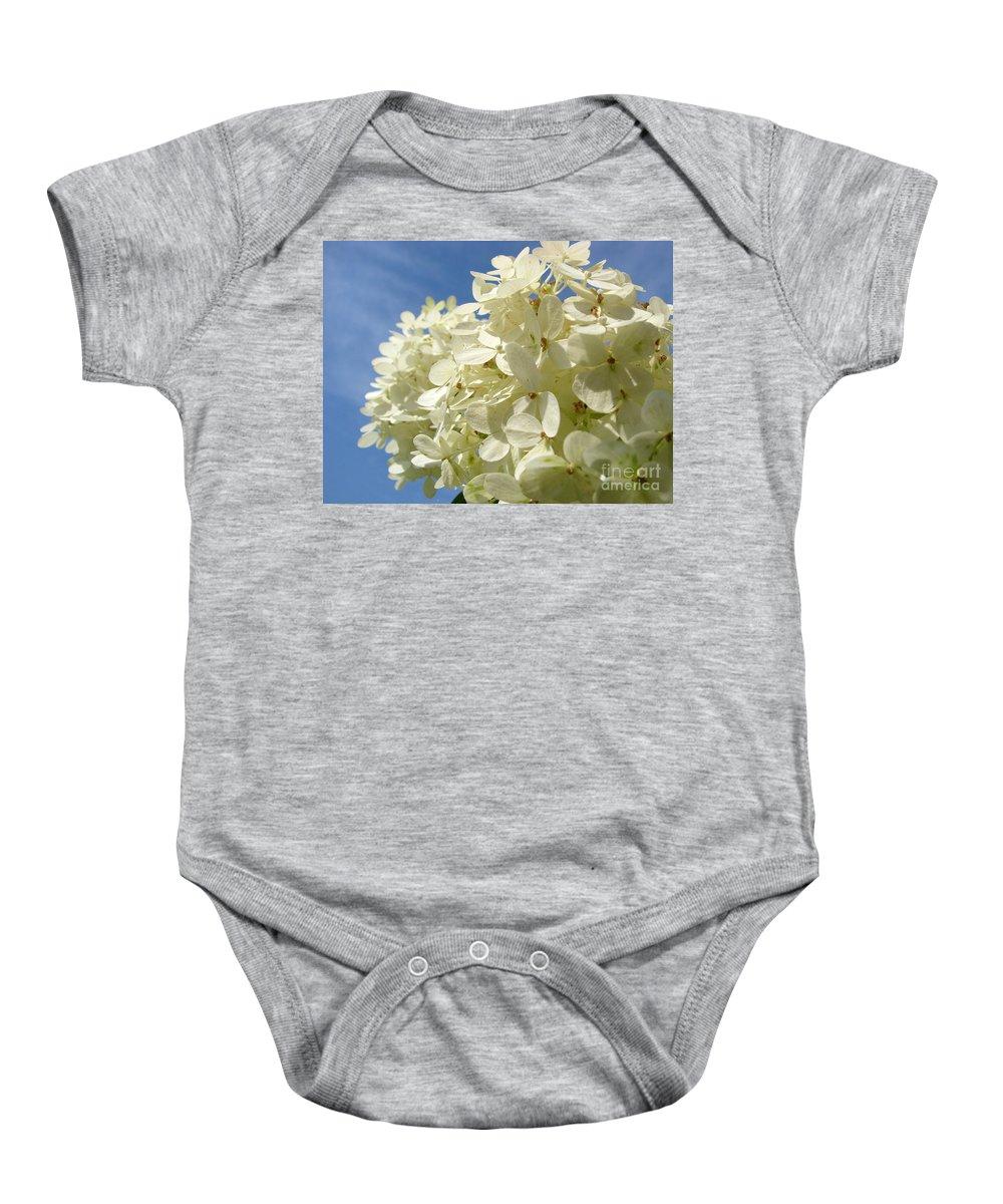 Hydranga Baby Onesie featuring the photograph Hydrangea by Amanda Barcon