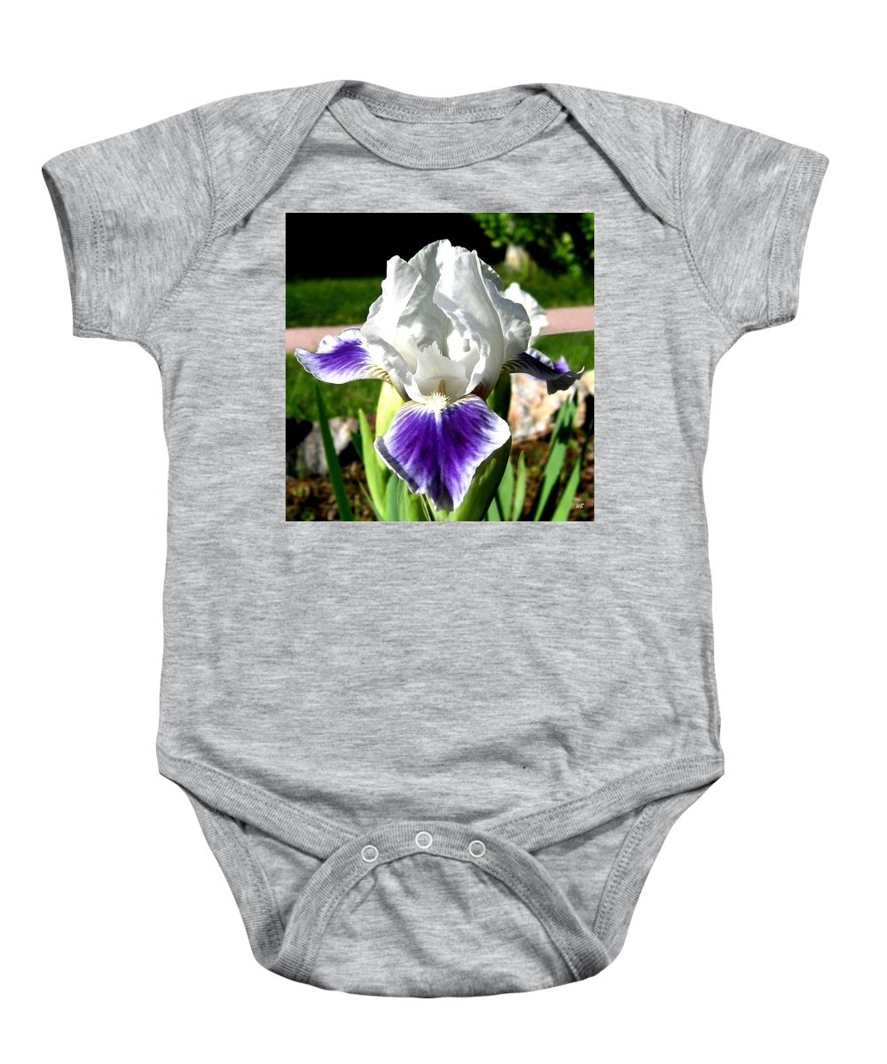 Iris Baby Onesie featuring the photograph Iris Elegance by Will Borden