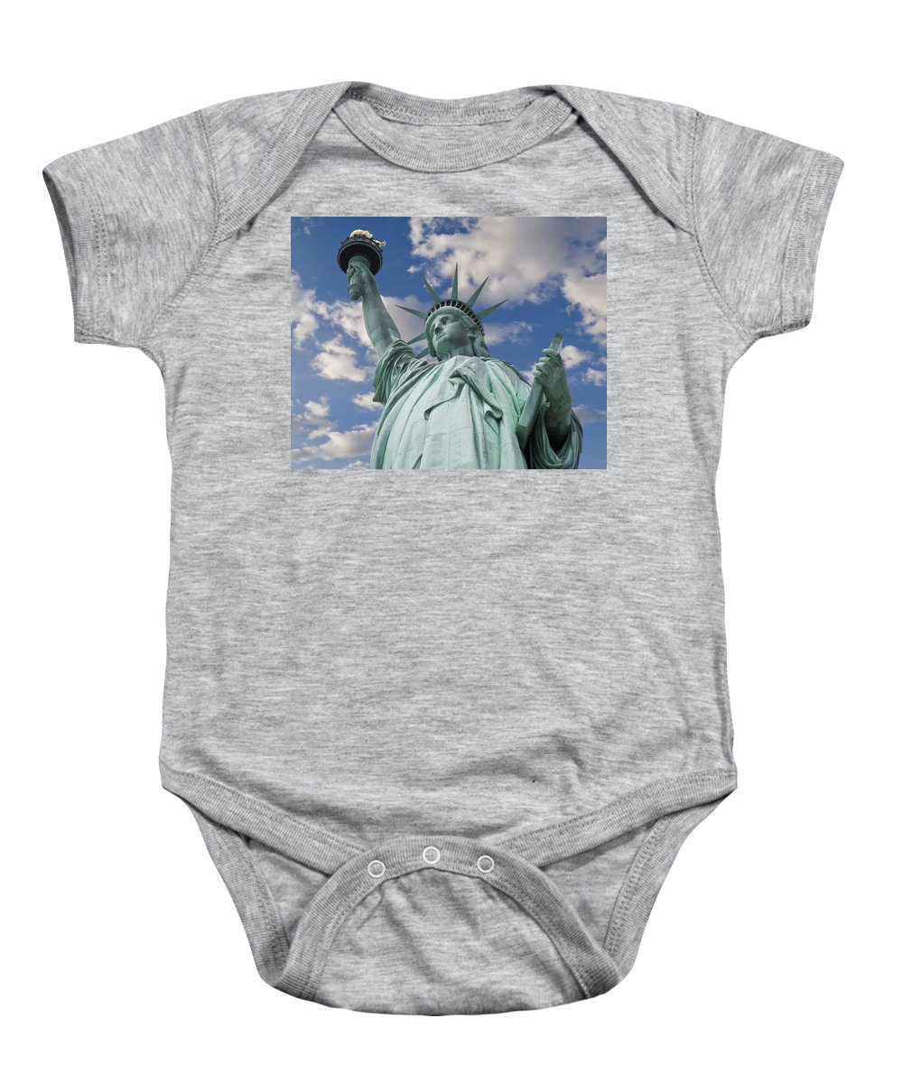 Statue Of Liberty Baby Onesie featuring the photograph Lady Liberty by Kelley King
