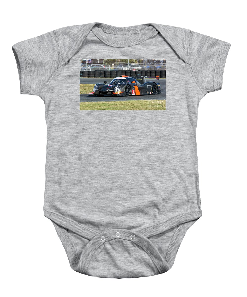 Automobile Baby Onesie featuring the photograph Ligier Js P3 Le Mans Prototype 3 Lmp3 by Tad Gage