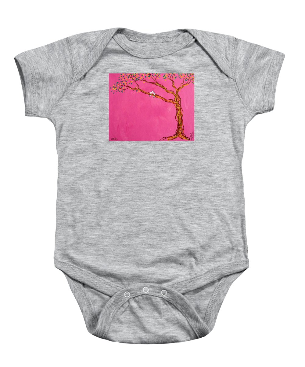 Tree Baby Onesie featuring the painting Love by Jim Harris