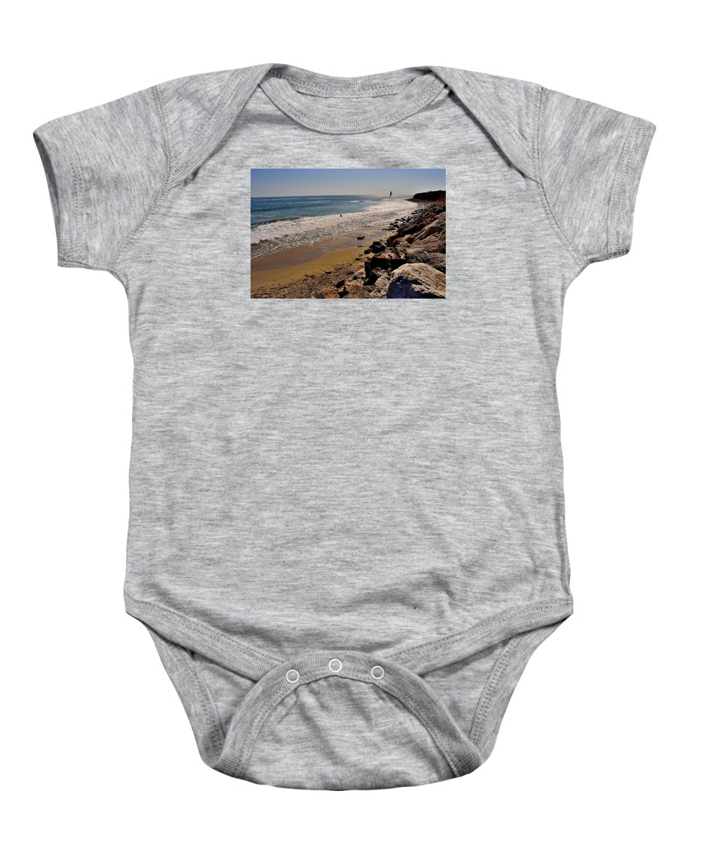 Baby Onesie featuring the photograph Malibu, Ca by Sherri Hasley